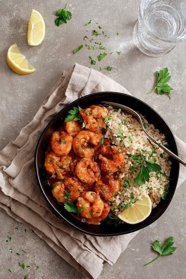 Shrimp Creole Dish